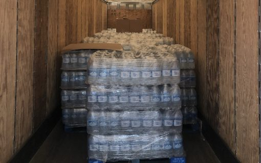 Water bottle donations