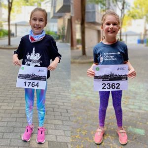 Kids with their race bibs