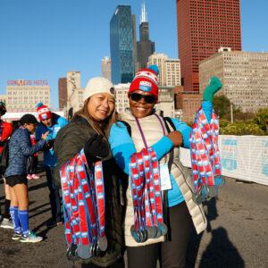 Chicago 5K volunteers with medals
